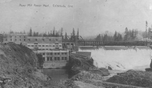 River Mill power plant and dam on the Clackamas River near Estac